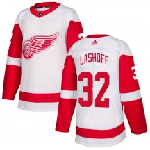 Detroit Red Wings Men's Brian Lashoff Adidas Authentic White Jersey