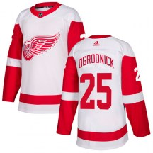 Detroit Red Wings Men's John Ogrodnick Adidas Authentic White Jersey