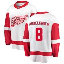 Detroit Red Wings Youth Justin Abdelkader Fanatics Branded Breakaway White Away Jersey