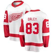 Detroit Red Wings Youth Trevor Daley Fanatics Branded Breakaway White Away Jersey