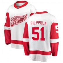 Detroit Red Wings Youth Valtteri Filppula Fanatics Branded Breakaway White Away Jersey