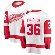 Detroit Red Wings Youth Kaden Fulcher Fanatics Branded Breakaway White Away Jersey