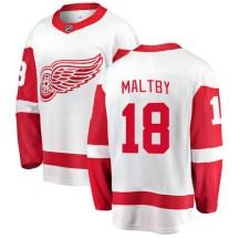 Detroit Red Wings Youth Kirk Maltby Fanatics Branded Breakaway White Away Jersey