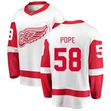 Detroit Red Wings Youth David Pope Fanatics Branded Breakaway White Away Jersey