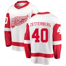 Detroit Red Wings Youth Henrik Zetterberg Fanatics Branded Breakaway White Away Jersey