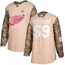 Detroit Red Wings Men's Tyler Bertuzzi Adidas Authentic Camo Veterans Day Practice Jersey