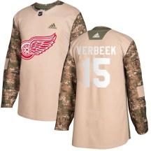 Detroit Red Wings Men's Pat Verbeek Adidas Authentic Camo Veterans Day Practice Jersey