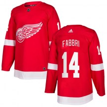 Detroit Red Wings Men's Robby Fabbri Adidas Authentic Red Home Jersey