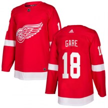 Detroit Red Wings Men's Danny Gare Adidas Authentic Red Home Jersey