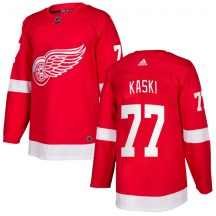 Detroit Red Wings Men's Oliwer Kaski Adidas Authentic Red Home Jersey
