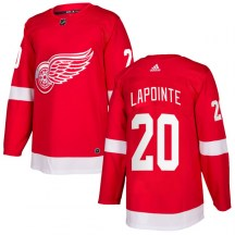 Detroit Red Wings Men's Martin Lapointe Adidas Authentic Red Home Jersey