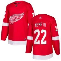 Detroit Red Wings Men's Patrik Nemeth Adidas Authentic Red Home Jersey
