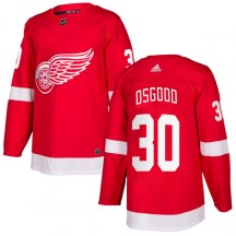 Detroit Red Wings Men's Chris Osgood Adidas Authentic Red Home Jersey