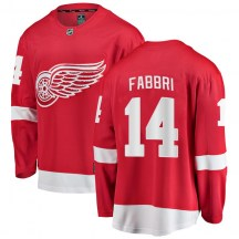 Detroit Red Wings Youth Robby Fabbri Fanatics Branded Breakaway Red Home Jersey
