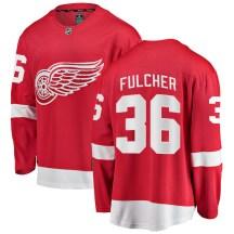 Detroit Red Wings Youth Kaden Fulcher Fanatics Branded Breakaway Red Home Jersey
