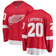 Detroit Red Wings Youth Martin Lapointe Fanatics Branded Breakaway Red Home Jersey