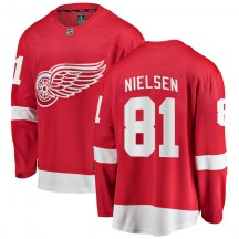 Detroit Red Wings Youth Frans Nielsen Fanatics Branded Breakaway Red Home Jersey