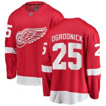 Detroit Red Wings Youth John Ogrodnick Fanatics Branded Breakaway Red Home Jersey