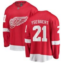 Detroit Red Wings Youth Paul Ysebaert Fanatics Branded Breakaway Red Home Jersey