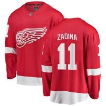 Detroit Red Wings Youth Filip Zadina Fanatics Branded Breakaway Red Home Jersey
