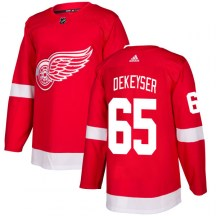 Detroit Red Wings Men's Danny DeKeyser Adidas Authentic Red Jersey