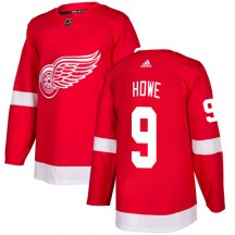 Detroit Red Wings Men s Gordie Howe Adidas Authentic Red Jersey e0def4fc8