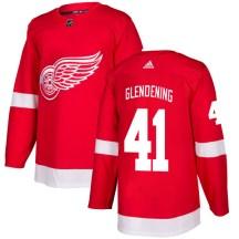 Detroit Red Wings Men's Luke Glendening Adidas Authentic Red Jersey
