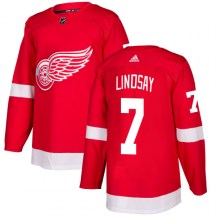 Detroit Red Wings Men's Ted Lindsay Adidas Authentic Red Jersey