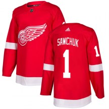 Detroit Red Wings Men's Terry Sawchuk Adidas Authentic Red Jersey