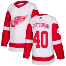 Detroit Red Wings Men's Henrik Zetterberg Adidas Authentic White Jersey