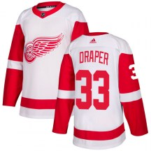 Detroit Red Wings Men's Kris Draper Adidas Authentic White Jersey