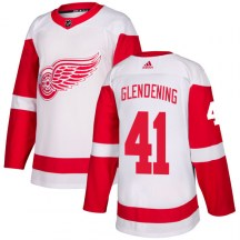 Detroit Red Wings Men's Luke Glendening Adidas Authentic White Jersey