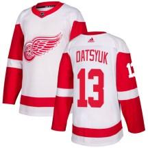 Detroit Red Wings Men's Pavel Datsyuk Adidas Authentic White Jersey