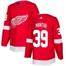 Detroit Red Wings Youth Anthony Mantha Adidas Authentic Red Home Jersey
