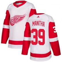 Detroit Red Wings Youth Anthony Mantha Adidas Authentic White Away Jersey