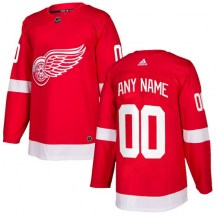 Detroit Red Wings Youth Custom Adidas Authentic Red Home Jersey