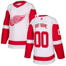 Detroit Red Wings Youth Custom Adidas Authentic White Away Jersey