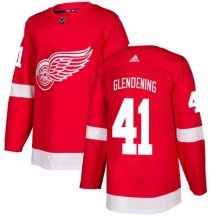 Detroit Red Wings Youth Luke Glendening Adidas Authentic Red Home Jersey