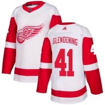 Detroit Red Wings Youth Luke Glendening Adidas Authentic White Away Jersey