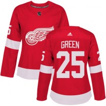 Detroit Red Wings Women's Mike Green Adidas Authentic Green Red Home Jersey